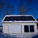 Passive Solar Garage Door