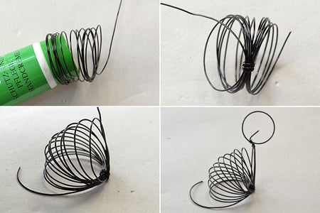 Make the Main Part of the Cute Black Wire Wrapped Cat Craft
