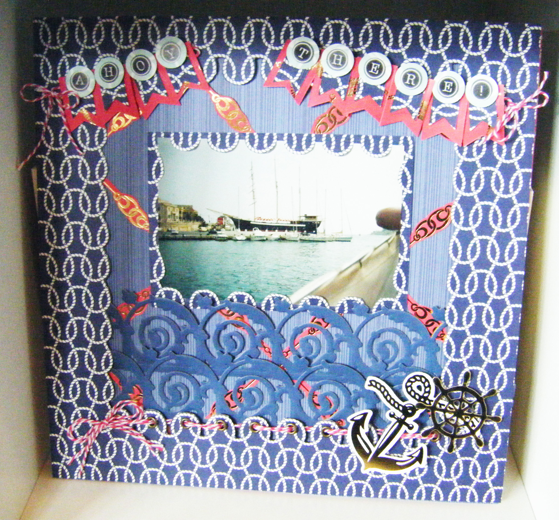Picture of How to Make a Seafarer Scrapbooking Page