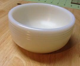 Lathe turned plastic bowl
