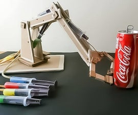 CARDBOARD Robotic Hydraulic Arm