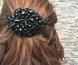 Beaded Hair Brooch