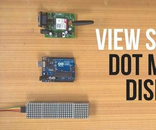 SMS Monitor || Dot Matrix Display || MAX7219 || SIM800L