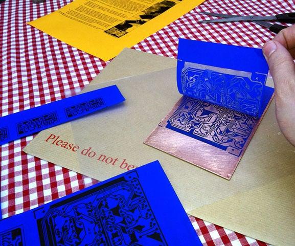 Etching PCBs With Press'n'Peel