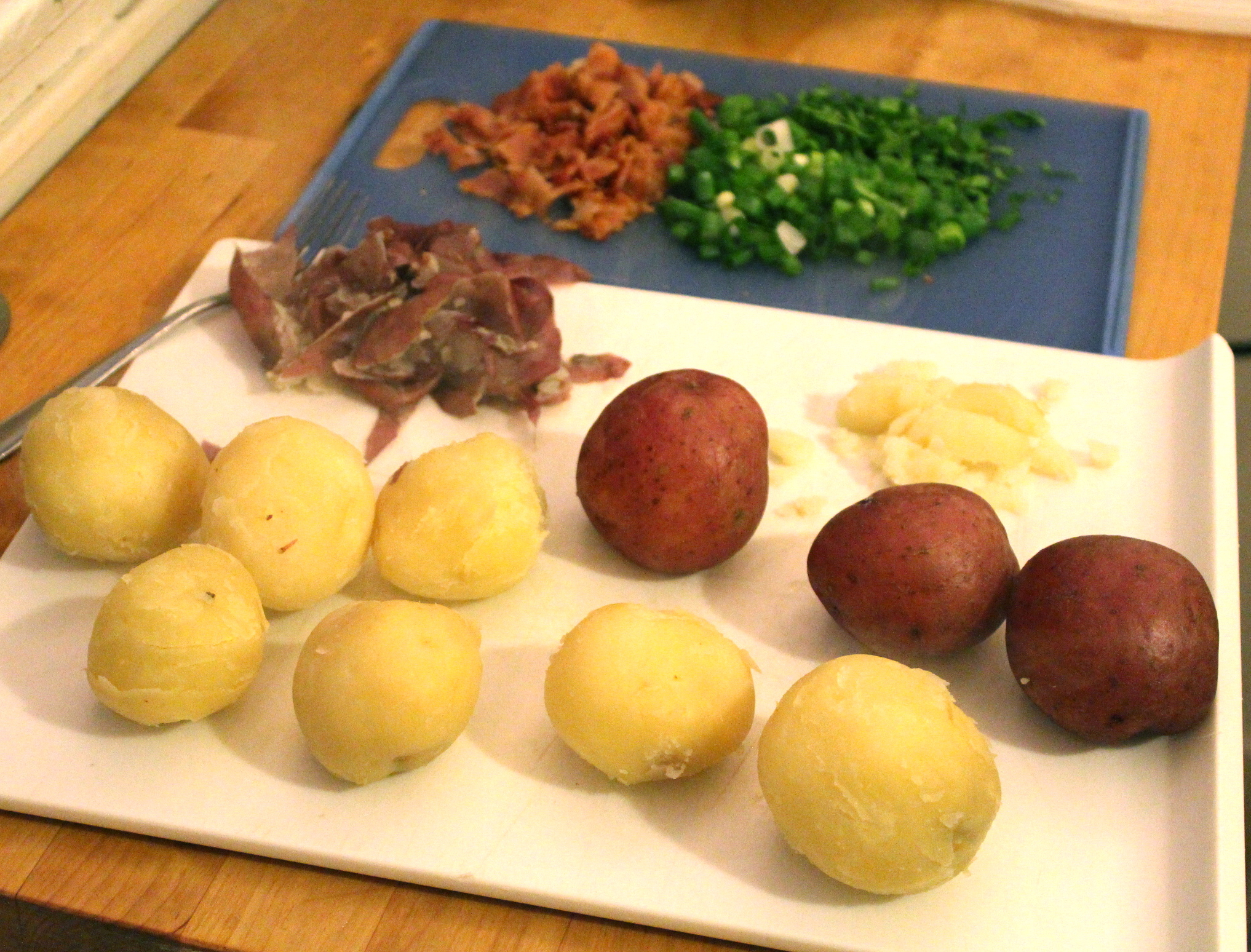 Picture of Cook the Onions + Peel and Cut the Potatoes