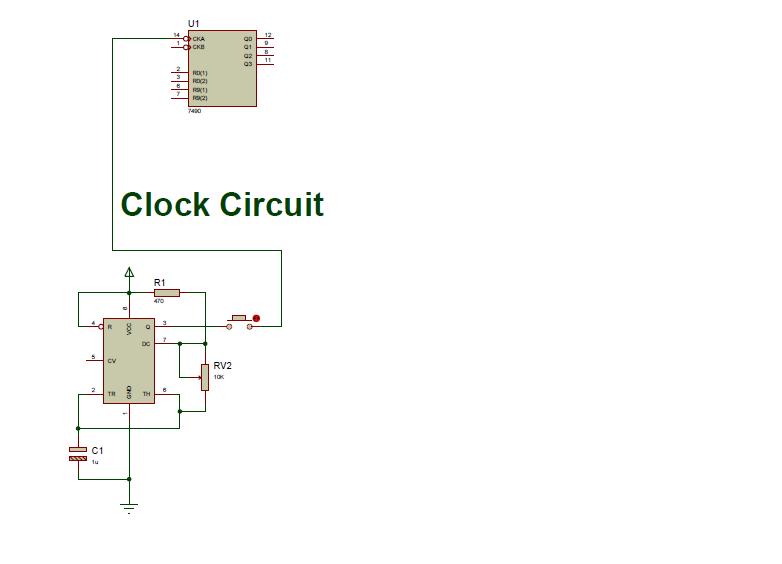 Picture of Schematic III: Clock Circuit