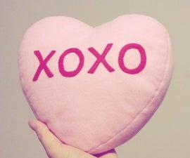 Conversation Heart Plush/Pillow