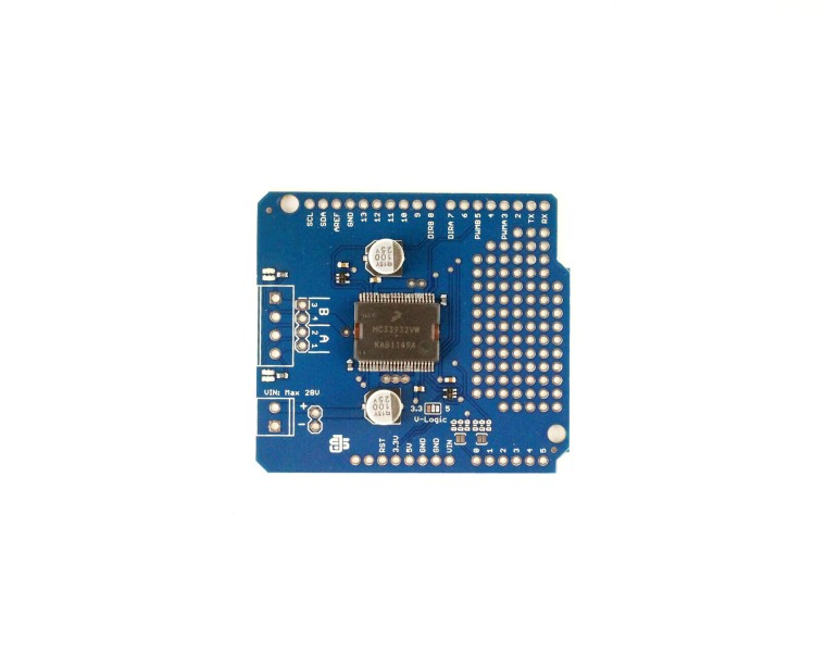 Picture of Getting Started With the MC33932 Dual Motor Shield