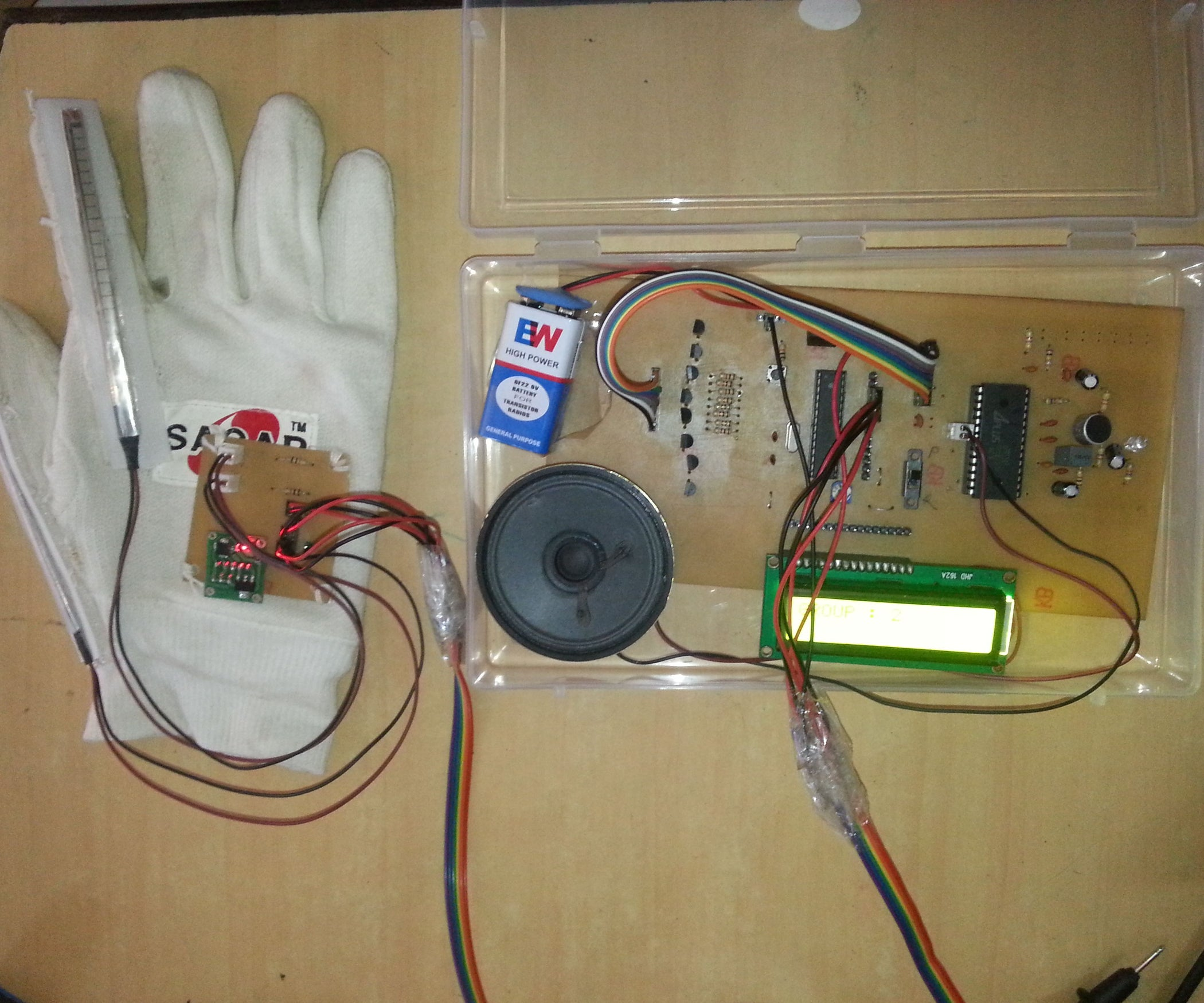 Gesture Vocalizer For Deaf Mute People Interaction 5 Steps Techno 4 Circuit Diagram