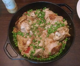 Dutch Oven Chicken Thighs & Rice