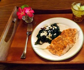 ORGANIC RED CHARD SALAD WITH GRILLED WILD STEELHEAD TROUT