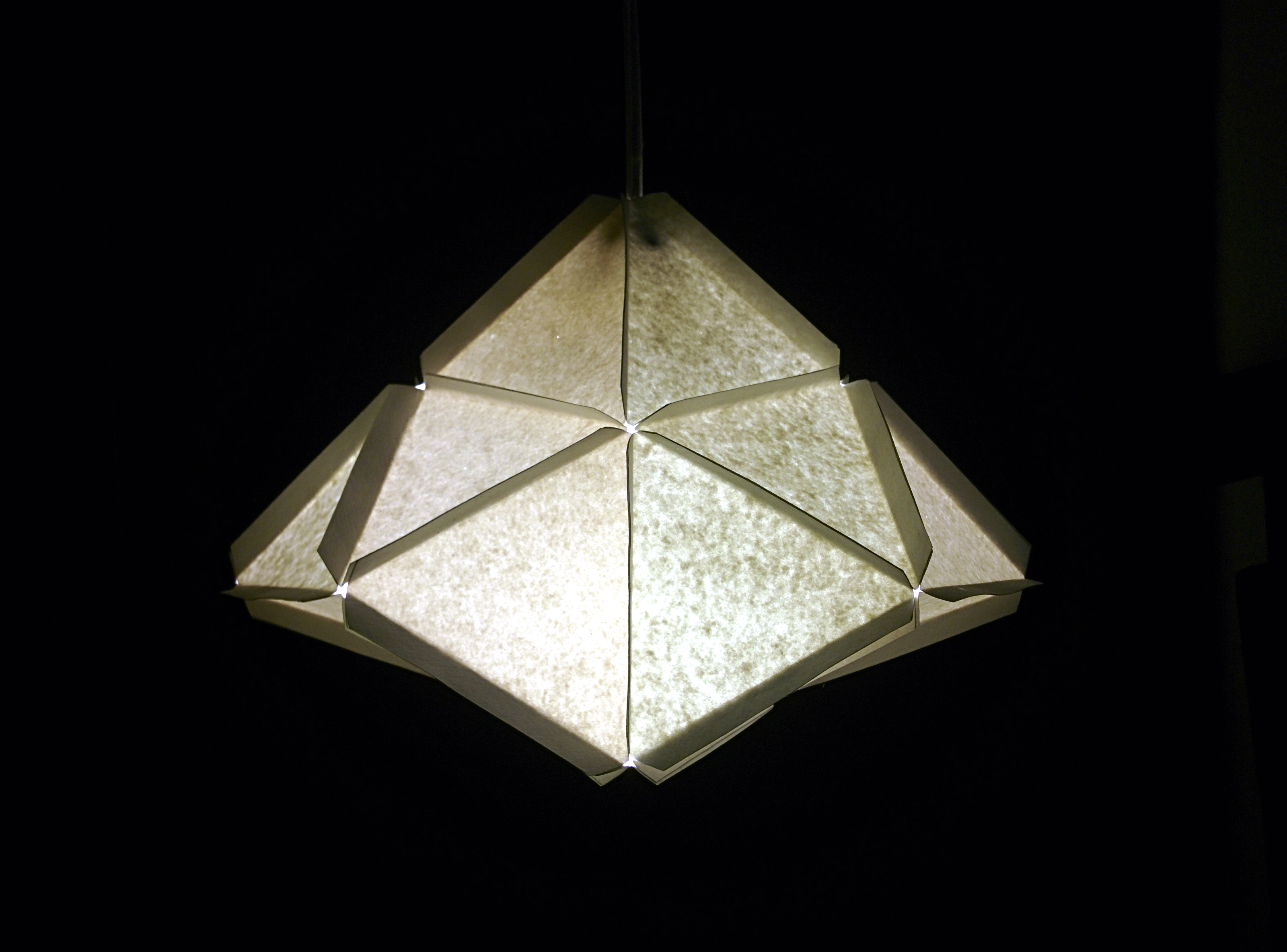Picture of Modular Geometric Paper Lamps, 5 Designs