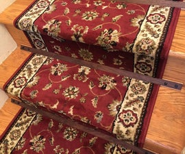 Wooden Stair Rods for a rug runner