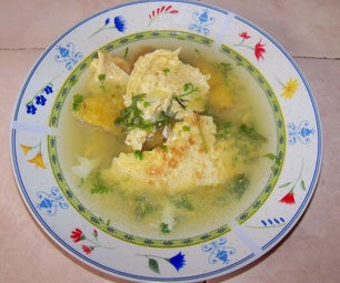 Egg Omelet's Soup - Easy and Very Tasty!