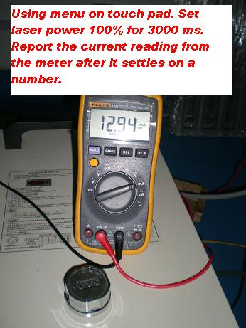 Picture of The Meter Reading Should Show the Proper Units (mA) and a Zero Value