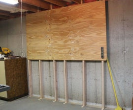 No-drill Studs for Basement Tool Wall