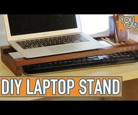 Timber Laptop Stand / Desk Organizer