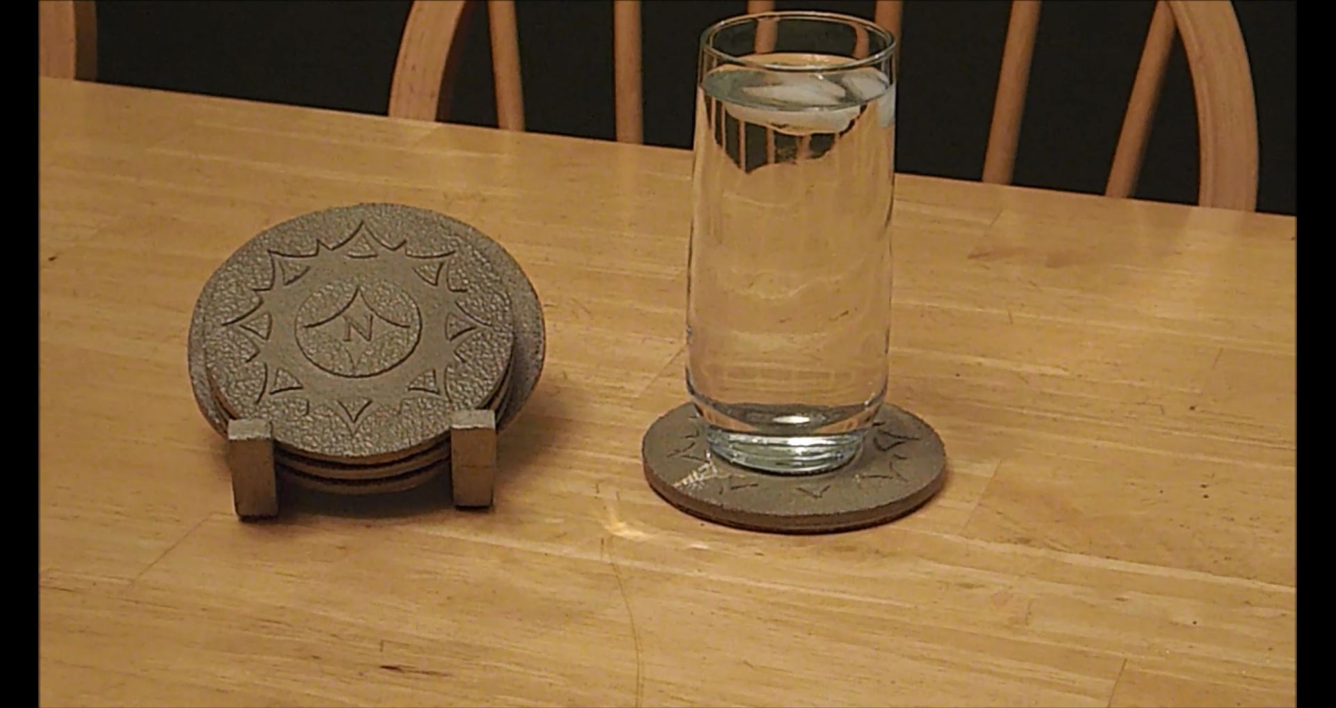 Picture of Casting Coasters With Laser Cuts and Sand Blaster