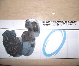 Portal 2 GLaDOS' Surprise Pop-Up Card