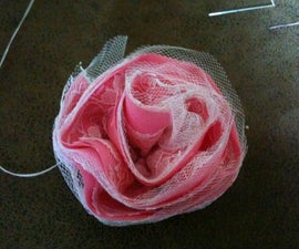 Tulle and Lace Fabric Hair-Flowers
