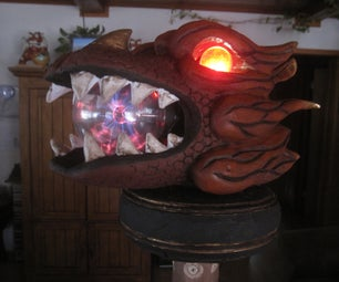 Magical Dragon Head Wizard Staff