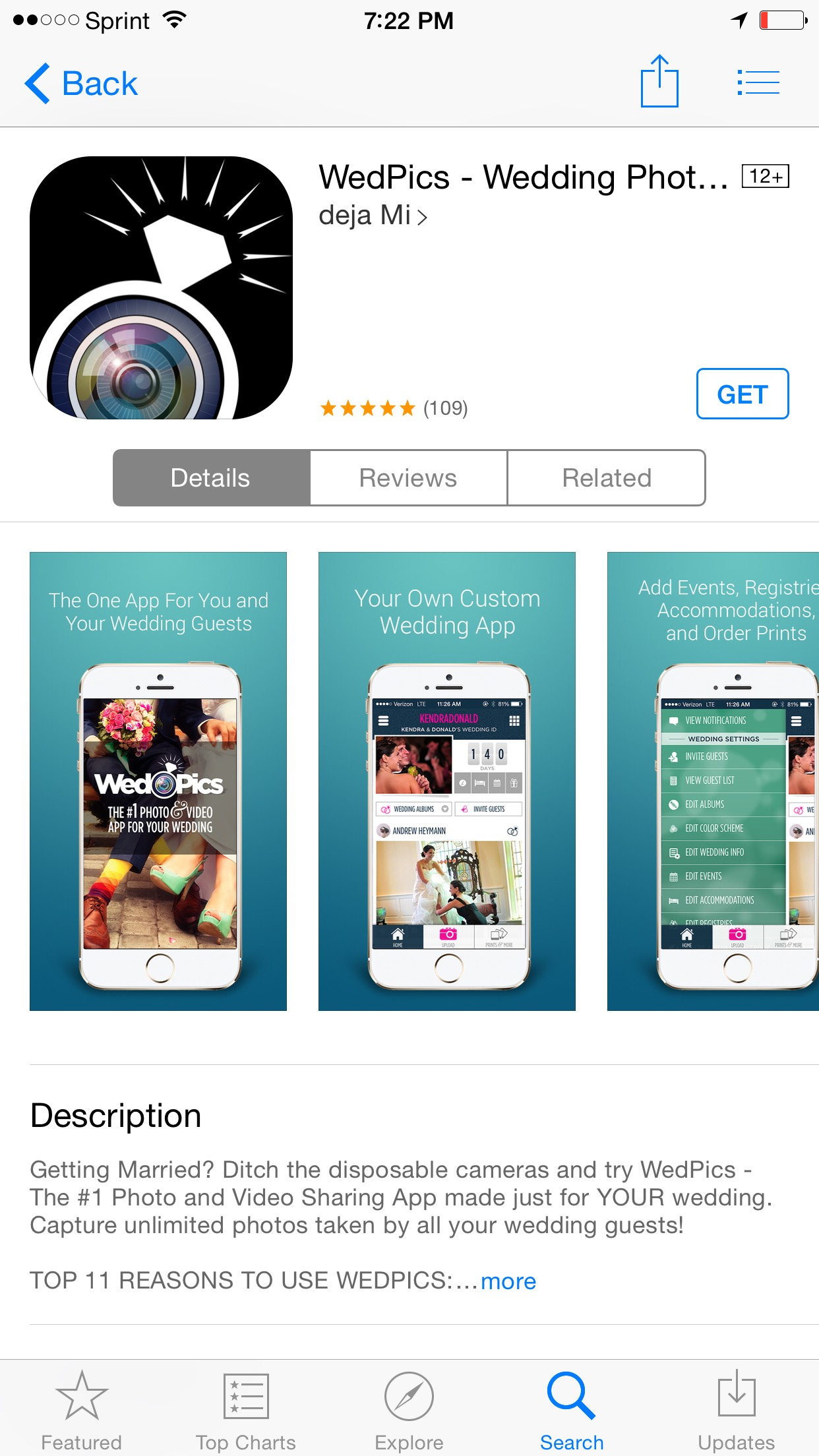 Picture of Pictures and Videos From Everyone at Your Wedding App