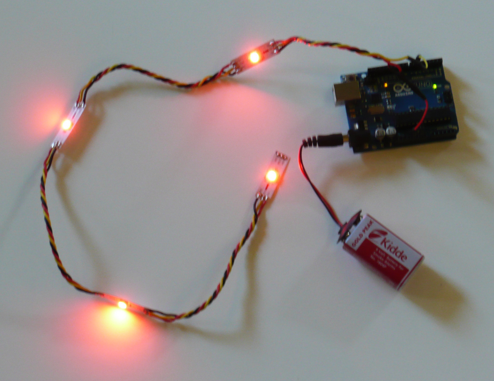 Picture of Soldering the LEDs