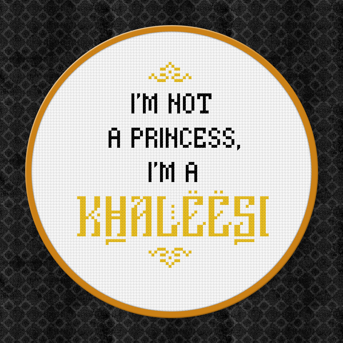 Picture of Game of Thrones - I'm Not a Princess, I'm a Khaleesi - Free Cross Stitch PDF Pattern