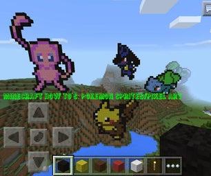 Minecraft How To's: Pokemon Sprites/Pixel Art