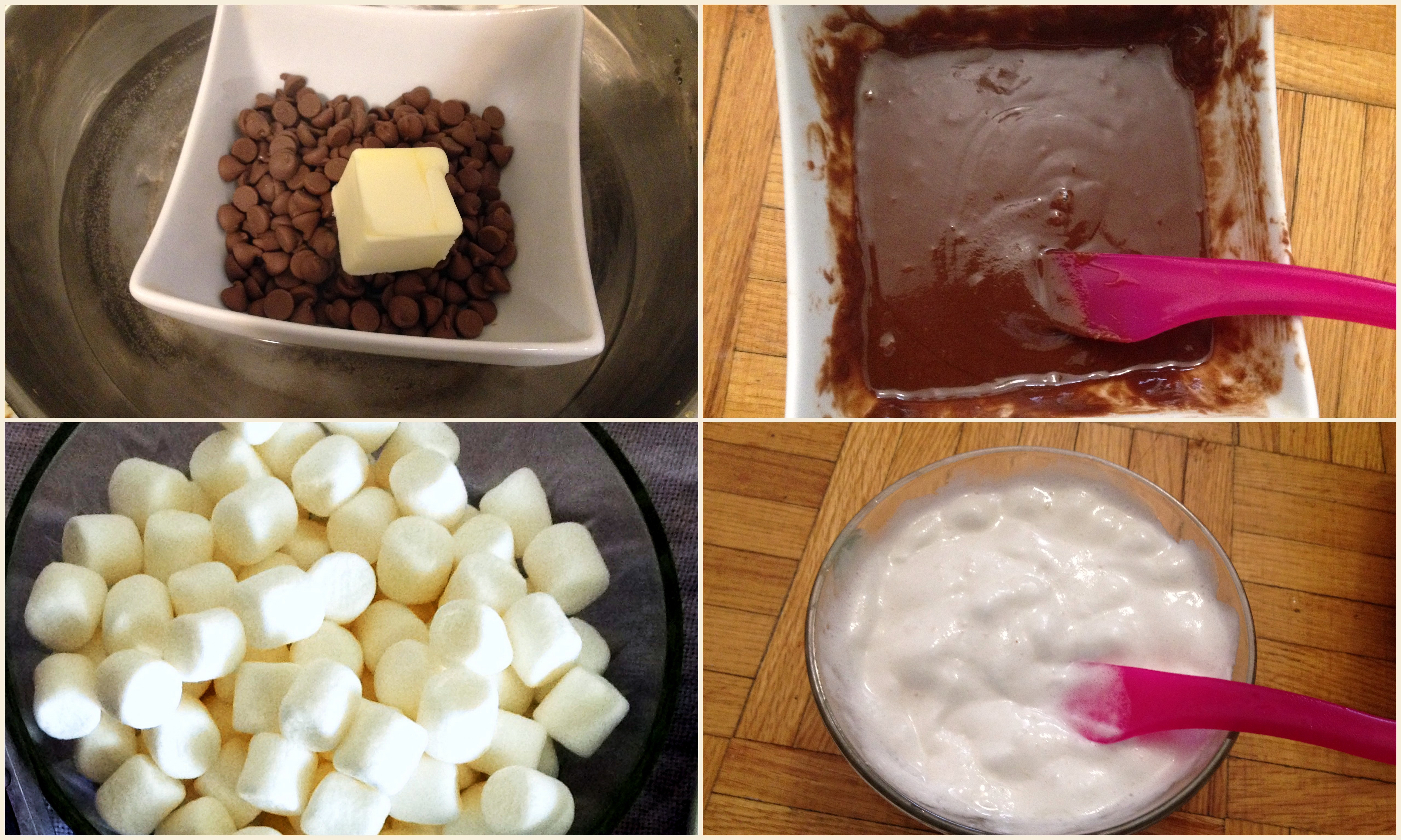 Picture of Method for Making Marshmallow and Chocolate Dip