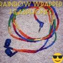 Rainbow Wrapped Headphones