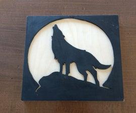 Wolf Scroll Saw Art