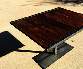 Rustic coffee table from old shelf (total cost $28)
