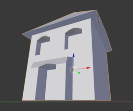 How to make a simple 3D house using Blender
