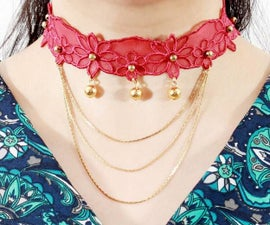 How to Make High Toned Lace Choker