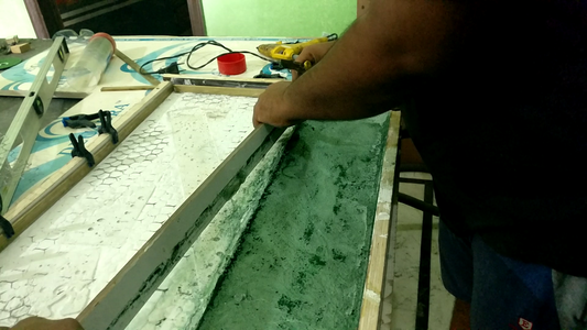 ​Pouring the Second Layer
