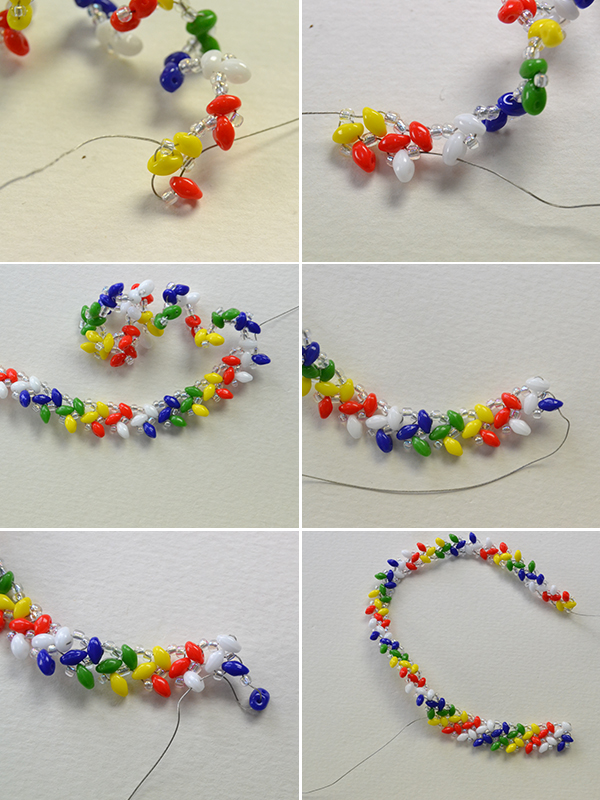 Picture of Make the Second Part of the Handmade Rainbow Beaded Bracelet