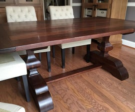 Black Walnut Trestle Table