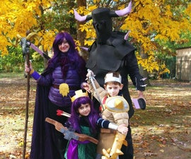 Clash of Clans raiding party (Barbarian King, Archer Queen, Witch (with skeletons) and P.E.K.K.A.