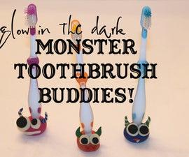 Glow in the Dark Monster Toothbrush Holder Buddies!