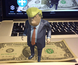 Lets Make an Augmented Reality App in 6 MINUTES! TRUMP EDITION