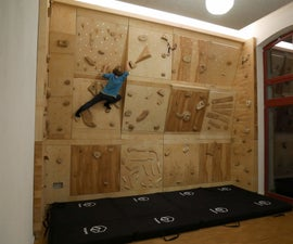 All Wooden Climbing Wall (with Interchangeable Wall Parts)