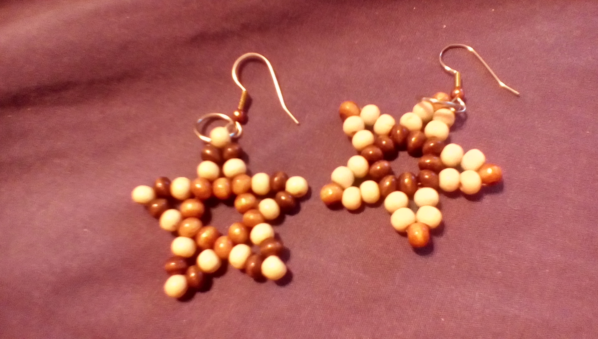 Picture of Beaded Star Ornaments, Earrings, Pendant, Etc.