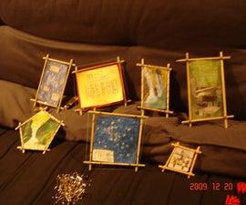 BBQ skewer picture frames