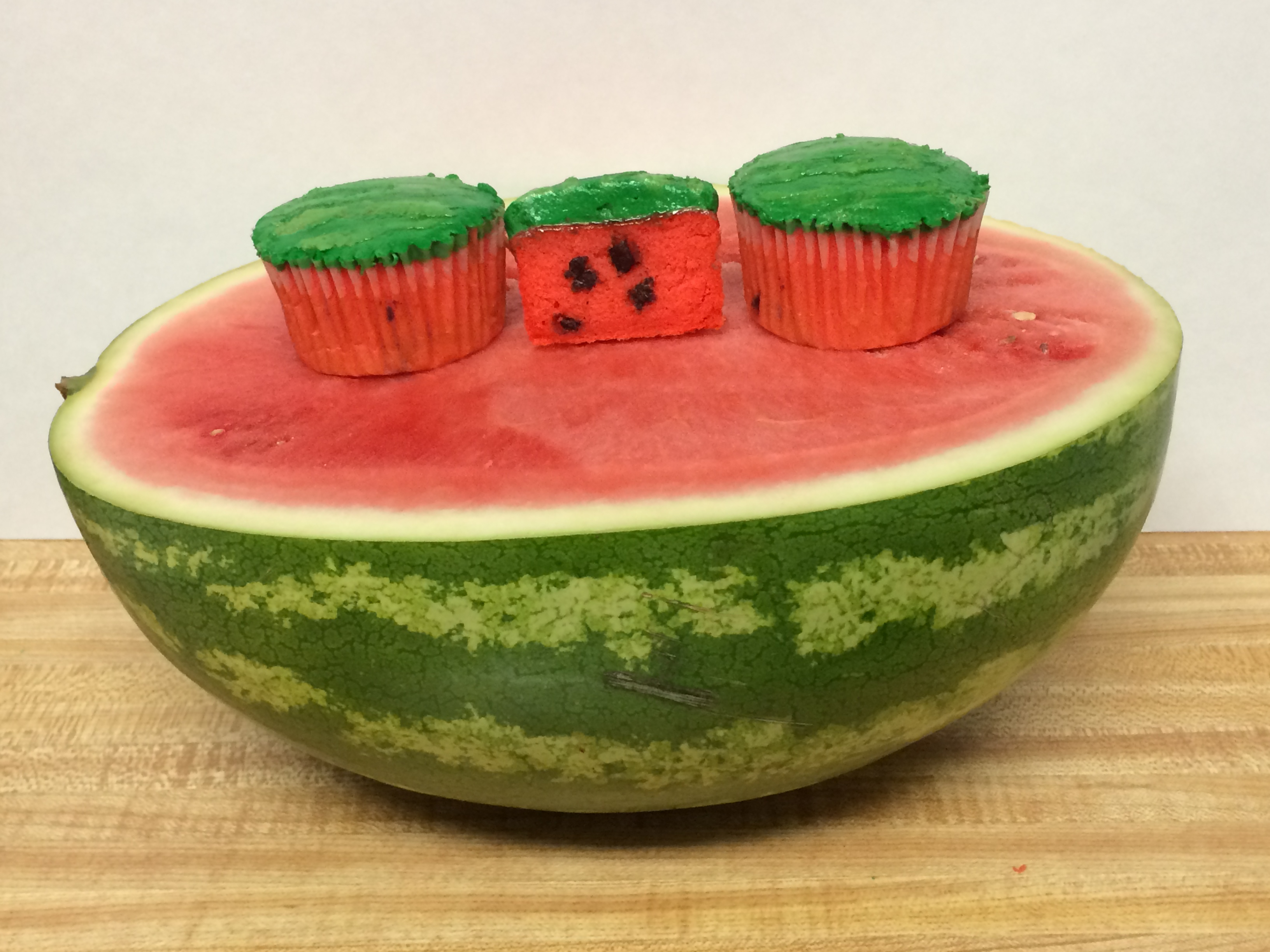 Picture of Watermelon Cupcakes: Made With Real Watermelon
