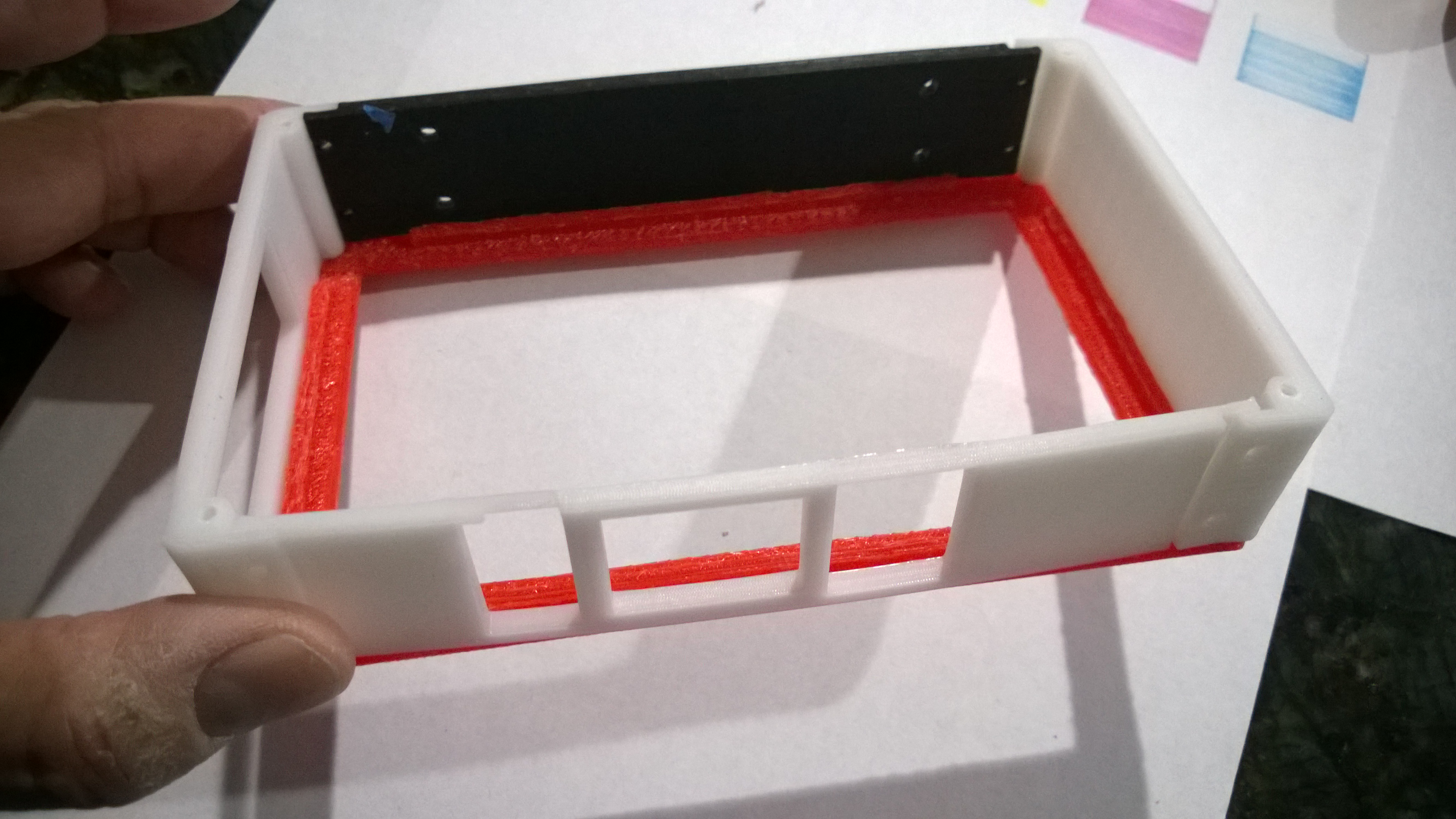 Picture of Prototype Parts and Initial Assembly