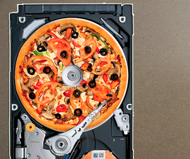 How to make a HDD PIZZA CUTTER