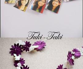 Purple Flower Garland