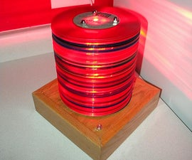 Lamp made from translucent 45 records