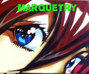 Marquetry Wood Veneer Manga
